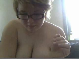 Cute chubby girl on webcam