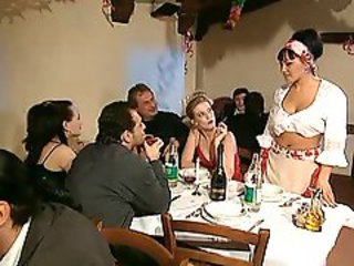 Drunk European Groupsex Italian MILF Orgy Party Swingers
