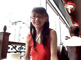 Asian Glasses Japanese Public Teen