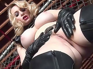 Close up Latex MILF Pussy