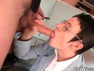 Big cock Blowjob Glasses MILF Secretary