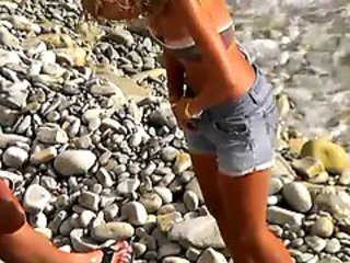 Beach Outdoor Teen Voyeur