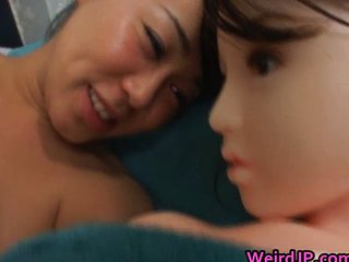 Asian Babe Fucking A Plastic Doll