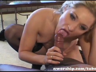 Two Blonde Teens Into Interracial Sex With A Big Black Cock
