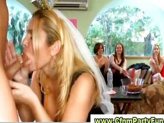 Blowjob Bride CFNM MILF Party