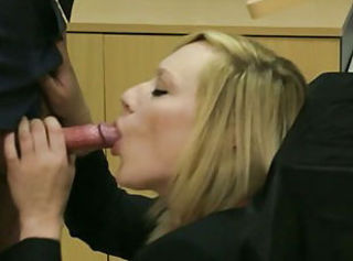 Femdom humiliating her sub by sucking during class in hd
