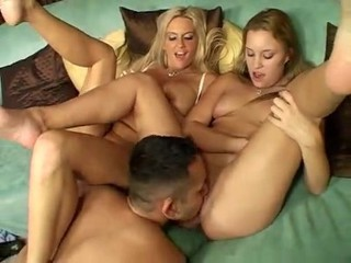 Licking MILF Mom Old and Young Teen Threesome