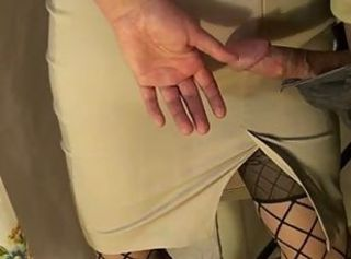 Public touching - Cock versus Skirt