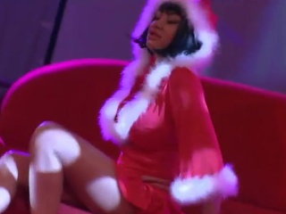 Mrs. Claus Stripper Gives The Lap Dance