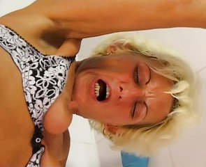Hot Blonde German Cleaning Lady Tiffany