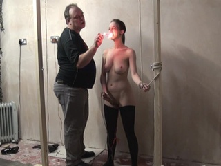 Emilys Burning Prisoner Torture In Constrained And Cellblock Sadism Of Big-titted English Masochist In Earlobe Candle Waxing And Severe Erotic Tortures
