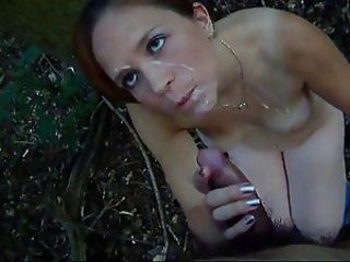 one of my many sluts in th woods