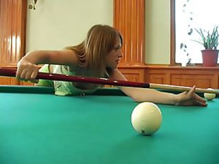 Pool table... Creampie