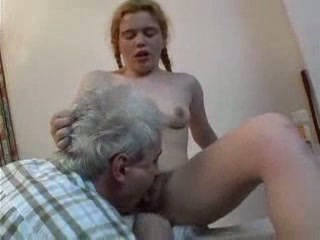 Daddy Daughter Hairy Licking Old and Young Teen