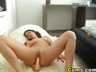 Hardcore Pussy And Anal Dildo Penetratio...