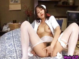 Hot Nurse Mika Osawa Sucking Cock