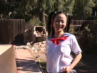 Asian Japanese Outdoor Pigtail Student Teen Uniform