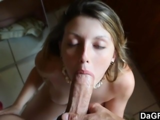 Hot Teen Munches On Huge Dick
