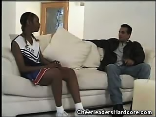 Ebony Cheerleader Interracial Movie