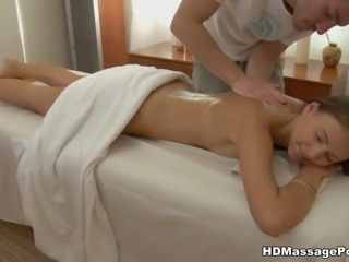 Girl with piercing blowjob with massage cumshot