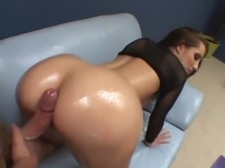 Ass Babe Big cock Doggystyle Oiled Pornstar