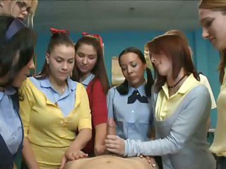 CFNM Handjob Student Teen Uniform