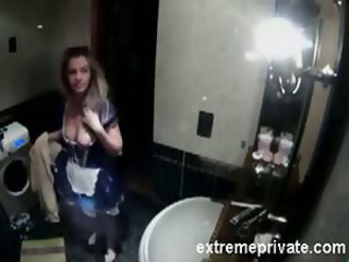 Bathroom  Maid Sister Voyeur