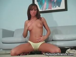 Hot nasty teen brunette babe have fun part1