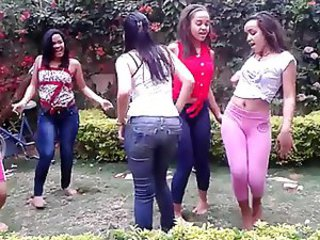 Amateur Brazilian Dancing Latina Outdoor Teen