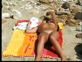 wife naked on beach