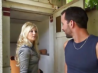 Blonde European French MILF Mom Old and Young