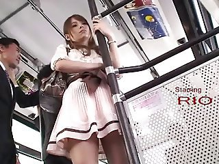 Perverted Stalkers - Office girl Rio groped on a bus