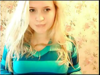 Blond Sød Teenager webkamera