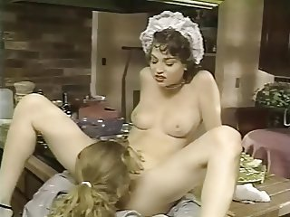 Cute European French Kitchen Licking Maid Teen Uniform