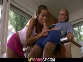 Blowjob Clothed Cute Daddy Daughter Old and Young Teen