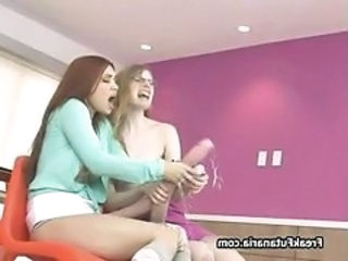 Two horny babes love sharing their giant part5