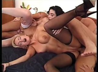 Two Milfs Anal Foursome with Spectators