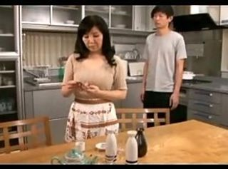 Asian Kitchen Mature Mom Old and Young