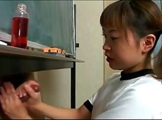 Asian Handjob Small cock Teen