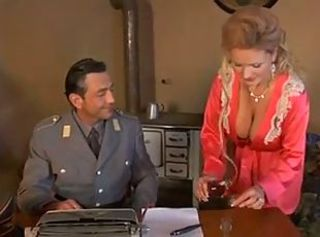 Military Officer Fucks Hot Tempting Blonde Milf Secretary