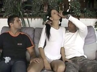 Brunette Drunk Teen Threesome