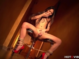 Asian Babe Bondage Fetish Long hair Masturbating Teen