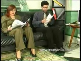Glasses Mature Mom Office Old and Young Redhead Russian Secretary