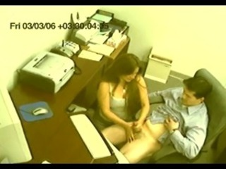 fake voyeur secretary gives tugjob CFNM