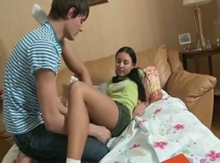 Anal and cum swallow of russian cute teen