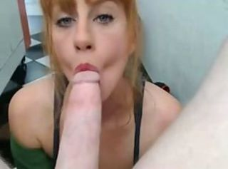 Amateur Big cock Blowjob Deepthroat Girlfriend Pov Redhead