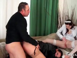 Groupsex with whore pissing on sluts