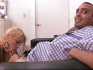 Yummy MILF blonde interviews for a job and gets a big bonus
