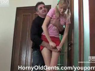 teen Lucia fucked by older guy