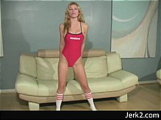 Lifeguard jerkoff instructor Heather Vandeven teases you
